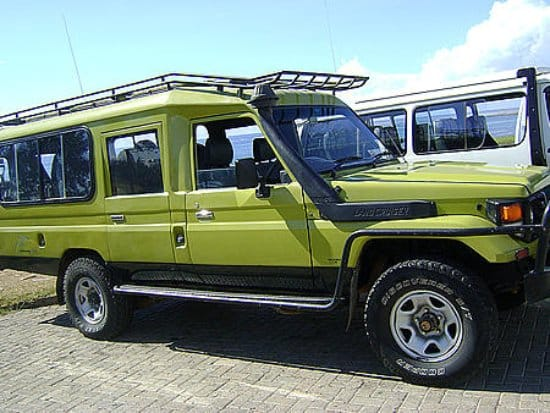 Car Hire, Safari van, 4x4 safari vehicles